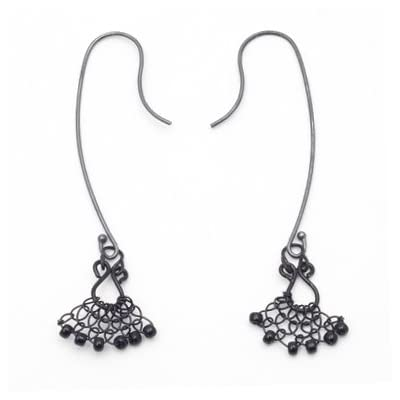 Mini Lace Hook Earrings by Judith Brown (Long)