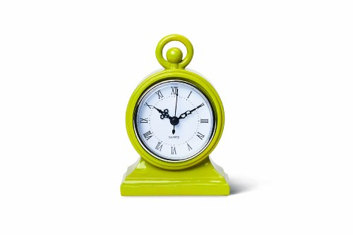 Foreside Home and Garden Tabletop Mod Clock, Chartreuse
