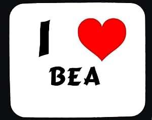 Amazon.com: I Love Bea custom mouse pad (first name/surname/nickname