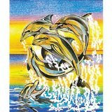 Reeves Dolphins Colored Pencil By Numbers