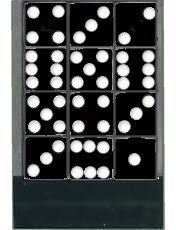 1 Dozen Black Dice - 16mm - 1