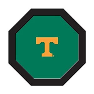 University of Tennessee Poker Table Felt - 43 Round - T Logo Green by NCAA