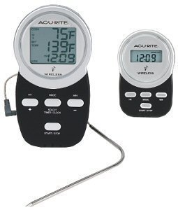 ACU-RITE 03166 Wireless BBQ Thermometer with Remote Pager