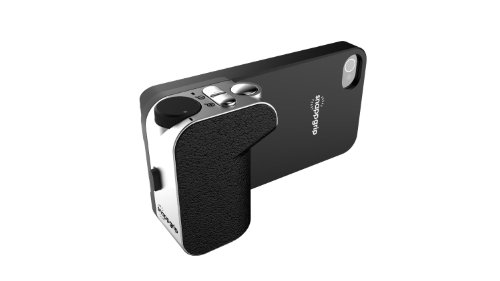 Snappgrip Wireless Bluetooth Camera Remote Shutter Release Controller and Case for Apple iPhone 5 & 5S Black