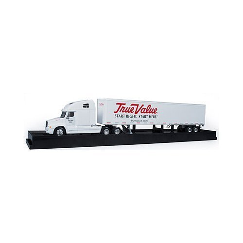 round 2 llc. cp7003/06 True Value, Custom 1:64 Scale Freightliner C-120 Truck With Trailer by round 2 llc.