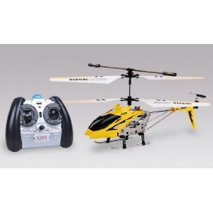 Syma S107 R/C Helicopter - Yellow (with Built-in Gyroscope Remote)