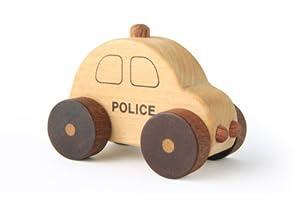 木のおもちゃSoopsori(スプソリ) 木製パトカー 働く車シリーズ