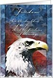 Memorial Day Eagle - Freedom Greeting Card Card