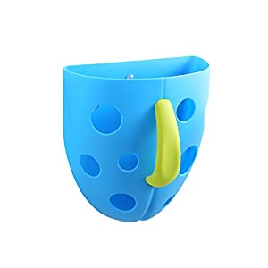 baby bath toy scoop and organizer new improved blue with green handle new. Black Bedroom Furniture Sets. Home Design Ideas
