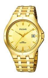 Pulsar Champagne Dial Gold Tone Bracelet Dress Sport Mens Watch