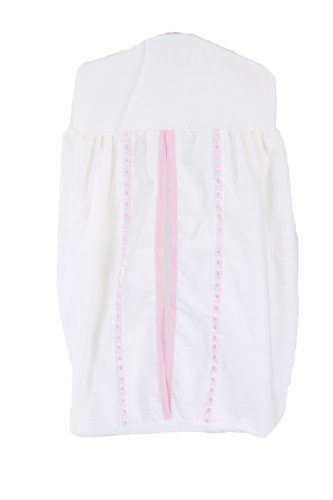 Baby Doll Unique Crib Diaper Stacker, Pink front-964245