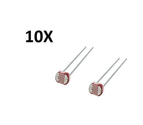 tecnostorer-10-fotowiderstand-ariston-ldr-sensor-licht-arduino-lichtschranke-solar-gl5528-widerstand