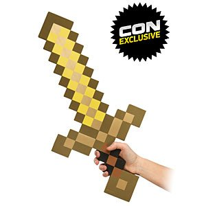 Minecraft Foam Gold Sword by ThinkGeek