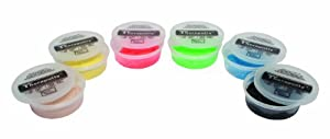Cando Theraputty Resistive Exercise Putty - Set of 6 resistances - 4 oz.