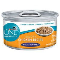 Purina ONE Smart Blend Savory Chicken Braised in Gravy Canne