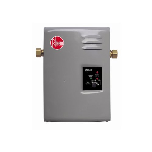 Rheem electric tankless hot water heater 4 gallon kitchen for 1 bathroom tankless water heater