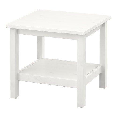 IKEA-HEMNES-Beistelltisch-in-wei-gebeizt-aus-Massivholz-55x55cm