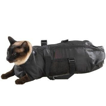 WOpet® Nylon Cat Grooming Bag Medium Black