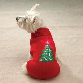Twinkling Christmas Tree Star Dog Holiday Sweaters Small by casual Canine