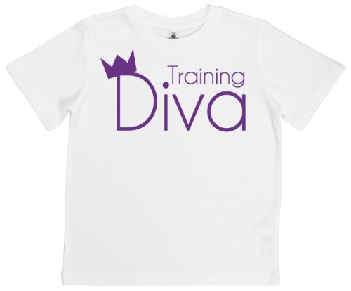 Phunky Buddha - Training Diva Unisex Kids T-Shirt 5-6 Yrs - White front-493628