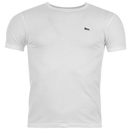 Lonsdale -  T-shirt - Collo a U  - Maniche corte  - Uomo bianco Medium