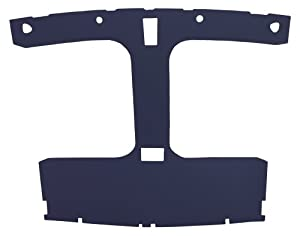 """Acme AFH41-FB1665 ABS Plastic Headliner Covered With Very Dark Blue 1/4"""" Foambacked Cloth"""