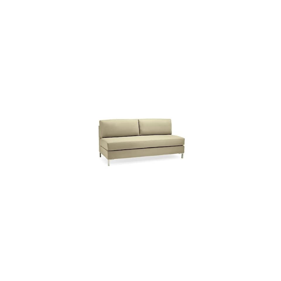 Brilliant West Elm Armless Sectional Sofa Flax On Popscreen Inzonedesignstudio Interior Chair Design Inzonedesignstudiocom