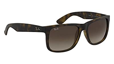 Ray-Ban Justin Sunglasses RB 4165 710/13 51mm Havana + SD Glasses + Cleaning Kit