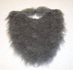 Gray Fake MUSTACHE BEARD Disguise