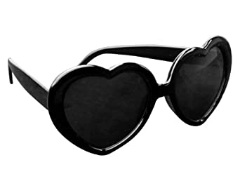 niceeshop(TM) Super Cute Heart Shaped Sunglasses Lovely Fashion Eyewear,Black