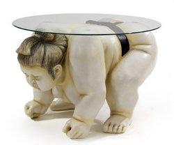 Basho The Sumo Wrestler Sculpture End Table