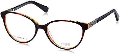 Idee Full Rim Eyewear Frame (Silver and Shiny Black ) (ID1278C4FR 52)