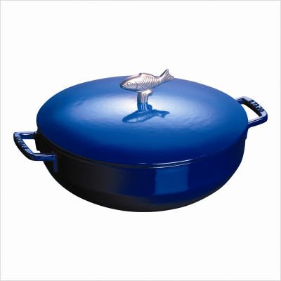 Buy Best Cheap Staub 5 Quart Bouillabaisse Pot Blue