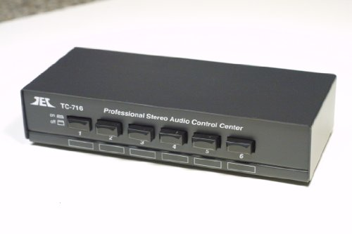 For Sale TCC TC-716 6-Way Stereo Source Selector; BLACK VERSION