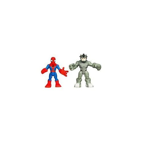 Marvel Spider-Man Adventures Spider-Man with Rhino Playskool Heroes by Hasbro TOY (English Manual)