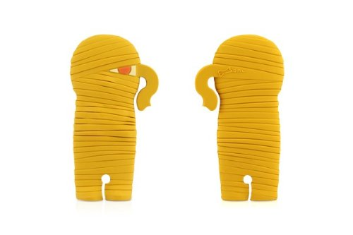 Bone Collection Mummy Wrap Headphone Cord / Wire Organiser (Cell Phone and Electronic Devices Accessory), Yellow