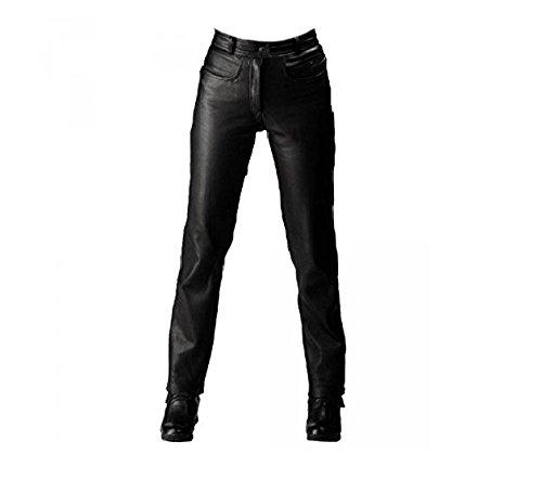 Roleff Racewear Pantaloni in Pelle da Donna, Nero, 50