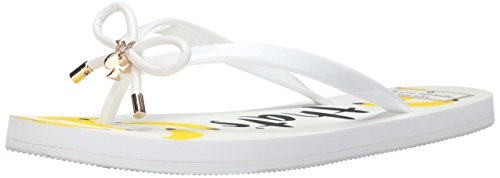 Kate spade new york Women's Nova Flip Flop, White, 6 M US