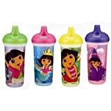 Munchkin Dora the Explorer Insulated Spill-Proof Cup, 9 Ounce, Colors May Vary