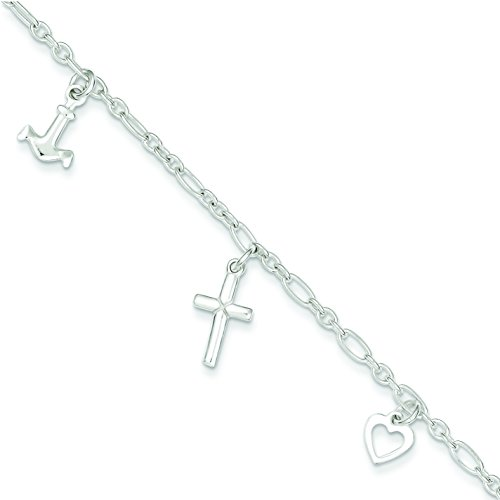 Sterling Silver 10 Anklet: Length 10 in
