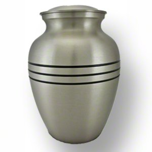 Elegant, High Quality Classic Pewter Pet Memorial Urn - Large