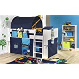 BLUE MIDSLEEPER BED WITH TUNNEL, TENT & POCKET PACKAGE