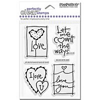 Love Thoughts Clear Unmounted Rubber Stamp Set (SSC245)