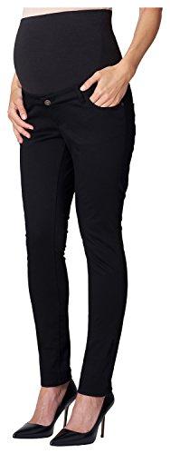 ESPRIT Maternity Damen Slim Umstandshose Pants OTB, Gr. 34 (Herstellergröße: 34/32), Schwarz...