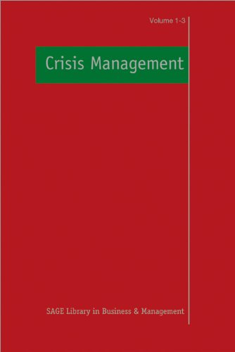 Crisis Management (SAGE Library in Business and Management)