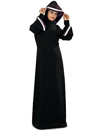 MyBatua Women's Moroccan Style Hooded Rusda Abaya in Black: Amazon