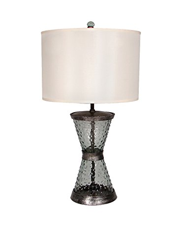 Palecek Del Ray Iron & Glass Table Lamp, Natural
