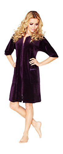 womens-luxury-soft-cotton-bath-robe-housecoat-dressing-gown-dress-style-velour-bathrobe-zip-up-knee-