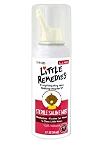 Little Remedies for Nose Sterile Saline Nasal Mist, 2 Oz