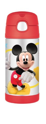 Thermos Funtainer Beverage Bottle (Mickey Mouse) front-848162